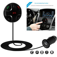 Bluetooth 3.0Music Receiver Player HandsFree Car Kit USB Charger Black foriphone