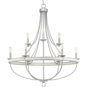 Progress Lighting Gulliver Nine-Light Chandelier, Galvanized - P400159-141