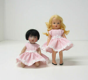 """Tiny Pink Pastel Dress fits 5"""" Mini Ginny, Storybook, Forget-Me-Not Dolls"""