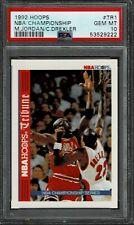1992 Hoops NBA Championship MICHAEL JORDAN / DREXLER #TR1 - PSA 10 GEM MT