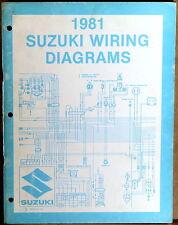 "SUZUKI SERVICE MANUAL 1981 WIRING DIAGRAMS ""X"" Model Motorcycles"
