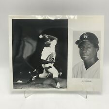 "AL DOWNING - Los Angeles Dodgers Baseball - 2 Photographs on 8"" x 10"" Page"