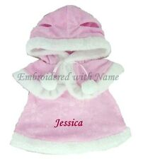 Teddy Clothes Fit Build a Bear Pink Dress With Hooded Cape Outfit Personalised