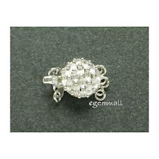Sterling Silver 3-str Pineapple Box Clasp 12mm #51188