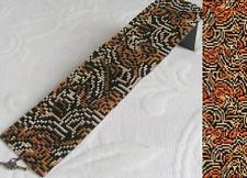1 Drop Even Count Peyote Bead Pattern - Tiger Mutation Cuff Bracelet