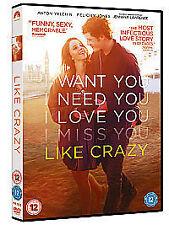 Like Crazy  DVD Felicity Jones, Anton Yelchin, Jennifer Lawrence, Charlie Bewley