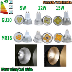 Dimmable Cree GU10 9W/12W/15W LED Spotlight Ceiling Light Cool/Warm White