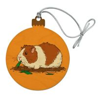 Guinea Pig Eating Wood Christmas Tree Holiday Ornament