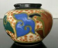 VINTAGE 1920-30 Japan Gouda Art Deco Dresser Jar Signed