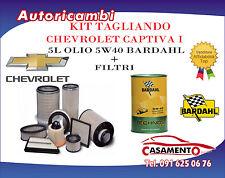 KIT TAGLIANDO 4 FILTRI + 5L OLIO BARDAHL 5W40 CHEVROLET CAPTIVA I 2.0 CDTI