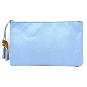 Gucci Clutch  Light Blue Leather 1713827