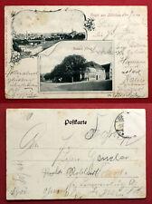 AK ZÜLLICHAU 1900 Gamm´s Hotel und Ortsansicht   ( 66600