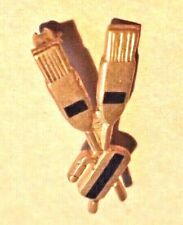 Vintage Curling Pin - Rock and Brooms Enamel?