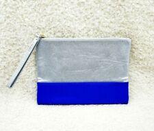 Shiseido Silver & Blue Makeup Cosmetics Bag / Pouch, Brand New!!