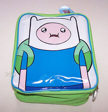 Adventure Time Finn The Human Green Printed Insulated Lunch Box Cooler Bag New