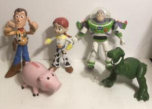 Disney Toy Story Lot with Woody, Buzz, Jessie, Rex, and Pig