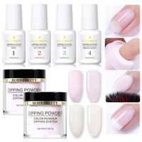 6Pcs/Set BORN PRETTY Glitter Dipping Glitter Powder System Liquid No UV Lamp