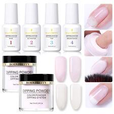 6Pcs/Set BORN PRETTY Glitter Dipping Glitter Powder System Liquid No UV Lamp