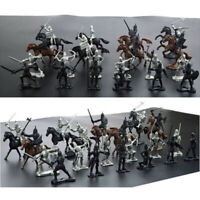 Set Of 28Pcs Medieval Military Knights Warriors Kids Toy Soldiers Figure Model