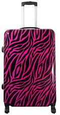 Reisekoffer Reisetrolley Hartschale Handgepäck Motiv Zebrafell Pink Gr.XL