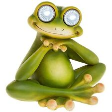 "FABULOUS ""BRIGHT EYES"" SOLAR FROG LED GARDEN LIGHT ORNAMENT NEW BOXED 66947"
