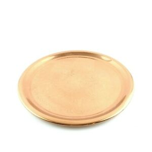 Copper Round Plate 13' Diameter Decoration Purposes Light Weight USA Seller