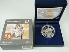 *** 10 Euro Gedenkmünze SPANIEN 2008 PP Proof Alfonso X El Sabio Espana Silber *