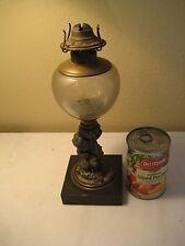 Antique Figural Stem  Kerosene Oil Lamp W grapes on the side.