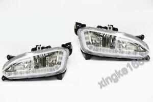 2PCS Fit Hyundai 2013-2014 LED Daytime Running bump Fog Lights Lamp DRL Santa Fe