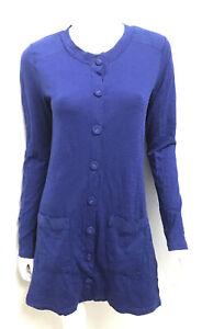 METALICUS blue wool blend mesh cardigan ~ one size