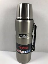Thermos 40 Ounce Capacity Stainless Steel Beverage Bottle - Hot & Cold - NEW