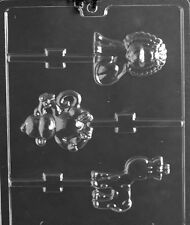 A151 Monkey, Giraffe and Lion Lolly Chocolate Candy Soap Mold with Instructions