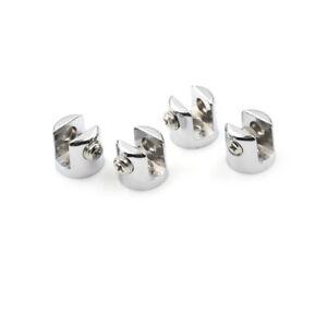 4 pièces 6-8mm supports de verre en alliage de zinc et de chrome support d'étW1F