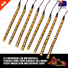 4 Pairs SMD LED Strip Bike Motorcycle Car Fork Turn Signal Indicator Light Blink