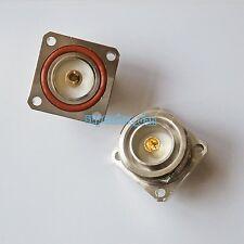 7/16 DIN L29 female jack center 4 holes flange deck solder cup RF coax connector