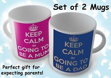 KEEP CALM I'M GOING TO BE A DAD/MUM SET OF TWO- MUG/CUP/PRESENT/ BABY SHOWER
