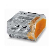 Lot x25 Raccords Bornes Eléctrique Automatique WAGO 3 Entrées Câble 1 à 2,5 mm²