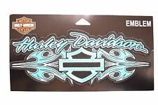 Genuine Harley Davidson Blue Wild Streak Bar & Shield Emblem Patch EM154894