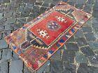 Bohemian rug, Vintage rug, Small, Handmade, Decor rug, Bedroom   1,6 x 3,2 ft