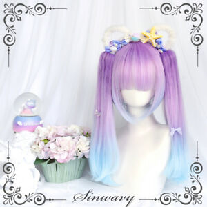 Fashion Lolita Cosplay Princess Straight Hair Sweet Japanese Highlight Wig