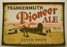 ca. 1930's Reisch Gold Top Beer (Springfield, Illinois) Bottle Label