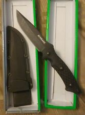 Schrade SCHF30 9.7in Stainless Steel Full Tang Fixed Blade Knife with 4.9in Clip