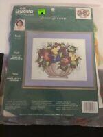 "Bucilla Counted Cross Stitch Kit Fruit 14"" x 11"" Donna Dewberry #43127 NEW NOS"