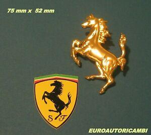 FERRARI 208 308 328 348 365 400 430 456 550 BADGE EMBLEM CAVALLINO HORSE GOLD