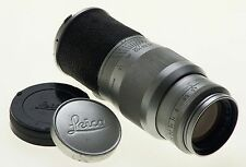 LEICA HEKTOR 4.5/135mm LEITZ f=135mm CAMERA CHROME LENS CAPS FITS M3 M8 M9 CLEAN
