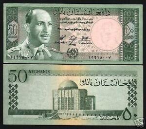 AFGHANISTAN 50 AFGHANIS P39 1961 KING ZAHIR RARE AUNC CURRENCY MONEY BANK NOTE