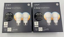LOT OF 2 (2 Packs) GE (C by GE) Tunable White Smart Bulb LED A19 800 Lumens  NEW