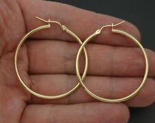 10k Yellow Gold 40mm Hoop Earrings