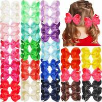 40Pieces Boutique Grosgrain Ribbon Hair Bows Alligator Hair Clips For Baby Girls