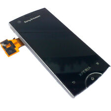 100% Genuine Sony Xperia Ray ST18i Anteriore Digitalizzatore Touch Screen + LCD Display Argento